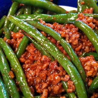 Pork (ground) with Szechuan Green Beans