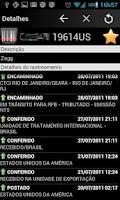 Screenshot of Rastreador de Encomendas