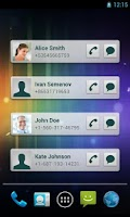 Screenshot of Quick Contacts