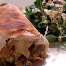 Chicken, Onion, and Apple Phyllo Rolls