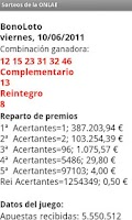 Screenshot of Sorteos de la ONLAE