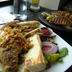 Cornmeal Crusted Catfish with Grilled Tomato and Sweet Onion Salad