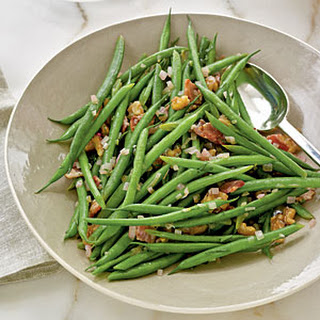 Haricots Verts with Warm Bacon Vinaigrette