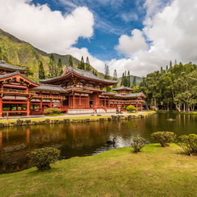 Valley of the Temples by Andy Chow - Buildings & Architecture Places of Worship ( temple, hawaii, oahu )