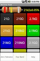 Screenshot of Resistor Roid