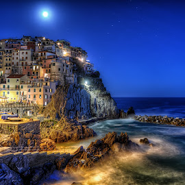 Manarola by Cristian Peša - City,  Street & Park  Night