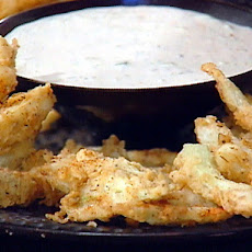 Buttermilk Battered Fennel Fries with a Creamy Buttermilk Dipping Sauce