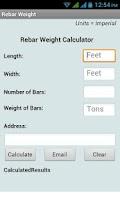 Screenshot of Rebar Weight Calculator