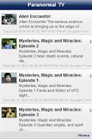 Screenshot of Paranormal Mysteries TV