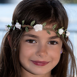 Flower   by Dave Crystal - Babies & Children Child Portraits ( child, headband, child portraits, child photography, portraits, flower )