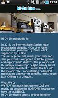 Screenshot of Hi On Line Radio