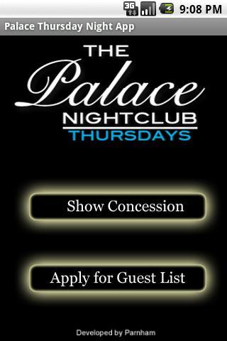 Palace Thursday Nights