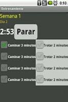 Screenshot of Plan Running