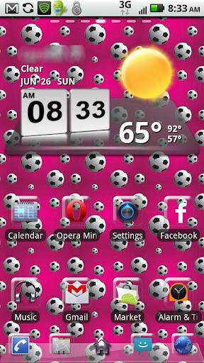 Soccer Girls GO Launcher EX