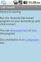 Screenshot of Usb Tunnel