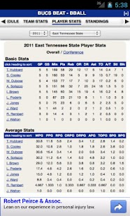 East Tennessee State Basketbal - screenshot