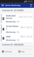 Screenshot of 1&1 Server Monitoring