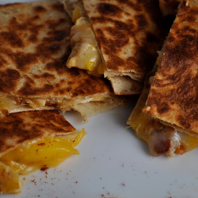 Chili Mango Chicken Quesadillas