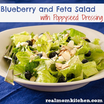 Blueberry and Feta Salad with Poppyseed Dressing