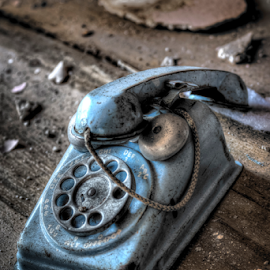 Hello? by Dave Zuhr - Artistic Objects Antiques ( dzuhr.d_zuhr, phone, old, abandoned )