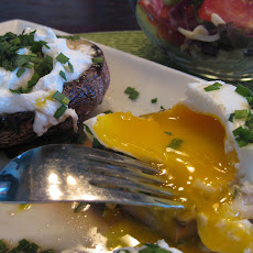 Roasted Portabellas With Poached Eggs