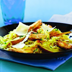 Spaghetti Squash with Chicken, Pears & Parmesan
