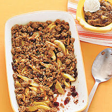 Pear-Dried Cranberry Crisp