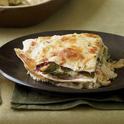 Chicken-and-Spinach Tortilla Bake