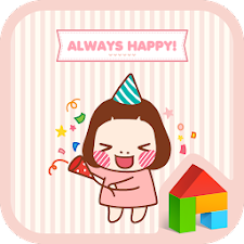 cute always happy dodol theme