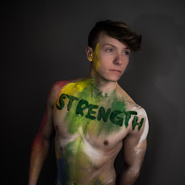 Strength. by Steven Romeo - People Body Art/Tattoos ( queer, muscles, strength, art, muscle, portrait )