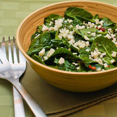 Spinach Salad Recipe with Bacon and Feta