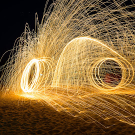 Let the sparks fly by RRC - Abstract Light Painting ( copyright : r coetsee )