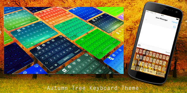 Autumn Tree Keyboard Theme - screenshot