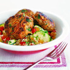 Mint Couscous with Zucchini and Tomato