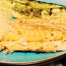 Maple Planked Salmon With Grilled Lemon