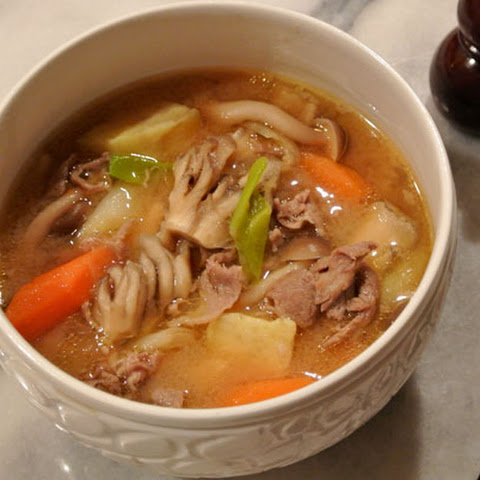 Tonjiru ~ Japanese Pork and Vegetable Miso Soup