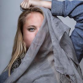 Scarfs by Mason Bletscher - People Fashion ( fashion, girl, portraits of women, scarfs, portraits, scarf, hair, women, people, portrait,  )