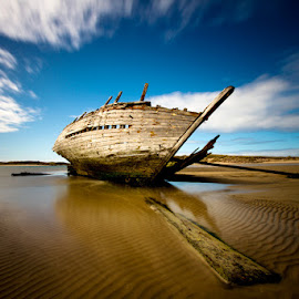 Eddies Boat  by David O'Gorman - Transportation Boats ( shipwreck, boat, donegal )
