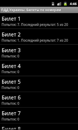 Билеты ПДД Украина