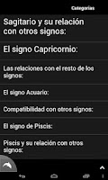 Screenshot of Signos del Zodiaco
