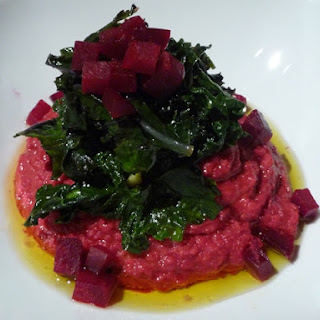 Bright Purple Puree with Dark Greens