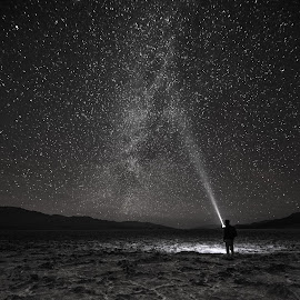 Extraterrestrial Communication by Shreenivasan Manievannan - Landscapes Travel ( badwater, desert, night, travel, exploration,  )