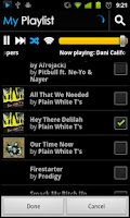 Screenshot of BluePlaylist Music Player