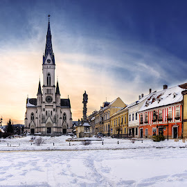 Hungarian Cityscapes pt.8. by Zsolt Zsigmond - City,  Street & Park  Historic Districts ( old, winter, church, snow, buildings, town, city )