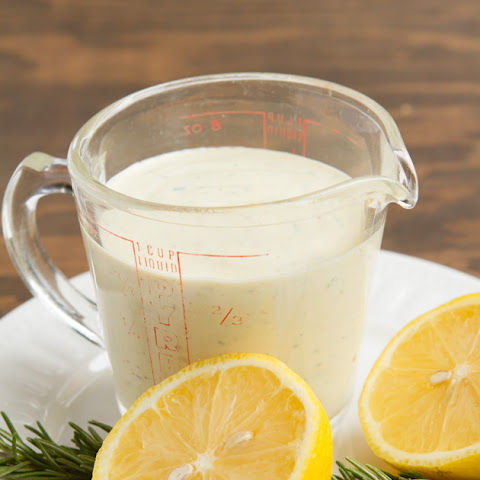 Creamy Lemon Rosemary Salad Dressing