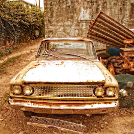 Carrabelle Decay  12-21-2013 by Richard Baas - Transportation Automobiles ( december, 2013, florida, rusted, d300, baas, nikon, decay, abandoned )