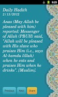Screenshot of Daily Hadith