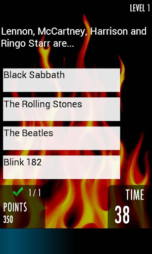 Rock Quiz 2 - music trivia - screenshot
