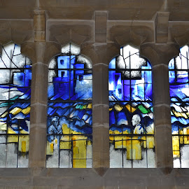 by Darren Peckham - Buildings & Architecture Places of Worship ( glass art, uk, church, sigma, lancing, glass, chapel, architecture, nikon, worship, stained glass )