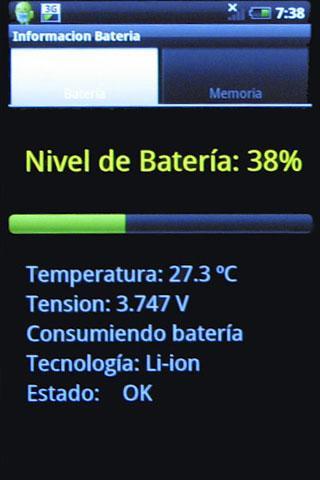 Nivel de Bateria